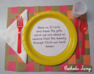 Grace before meals thanksgiving craft