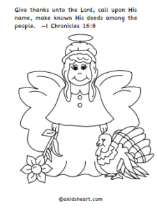 Bible verse thanksgiving coloring page