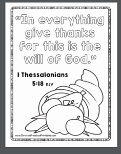 Thanksgiving Bible Coloring Sheet