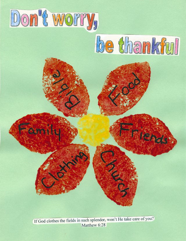 98 Be Thankful Thanksgiving Flower Craft Ministry Advice