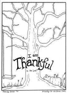 Thankful tree coloring sheet