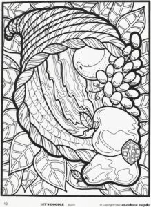 Cornucopia thanksgiving coloring page