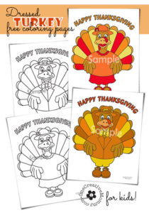 Thanksgiving coloring sheet set