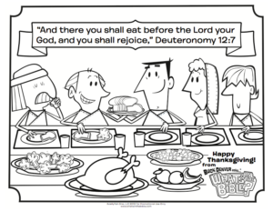 Thanksgiving coloring sheets from What's in the Bible