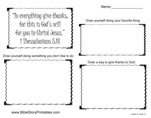Thanksgiving Bible worksheet